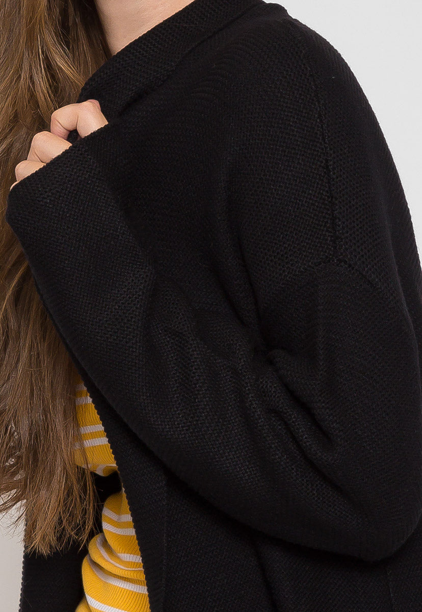 Dani Knit Cardigan in Black - Sweaters & Sweatshirts - Wetseal