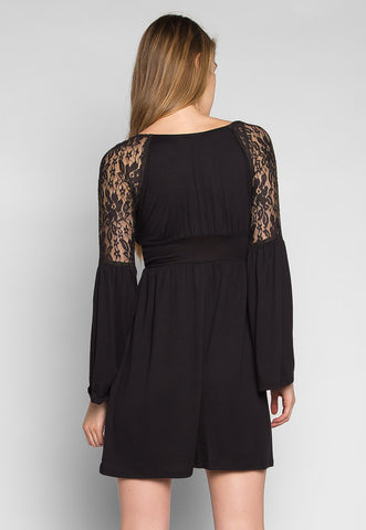 Isabella Lace Sleeve Dress