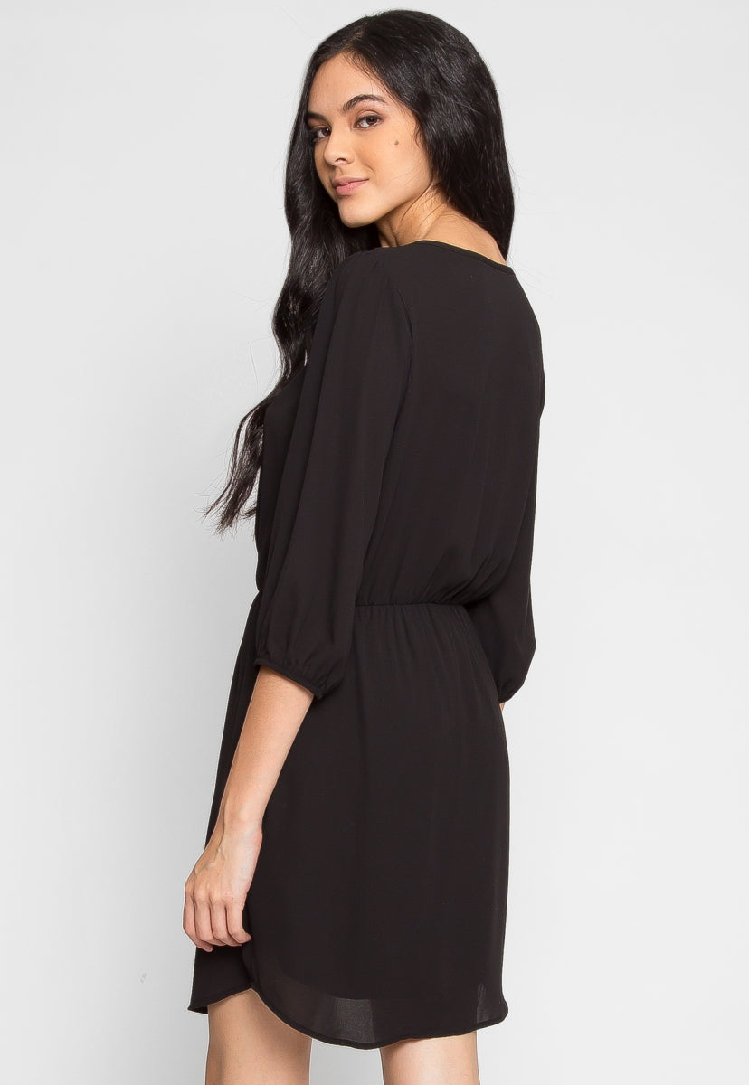 Perkins Mini Dress in Black - Dresses - Wetseal