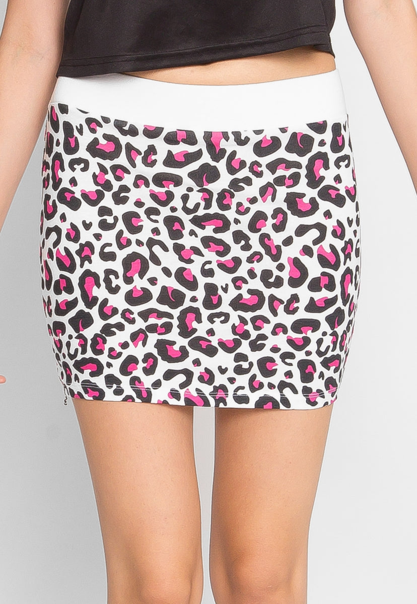 Psychedelic Leopard Knit Skirt - Skirts - Wetseal