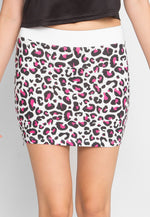 Psychedelic Leopard Knit Skirt