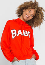 Rockstar Babe Graphic Hoodie in Red