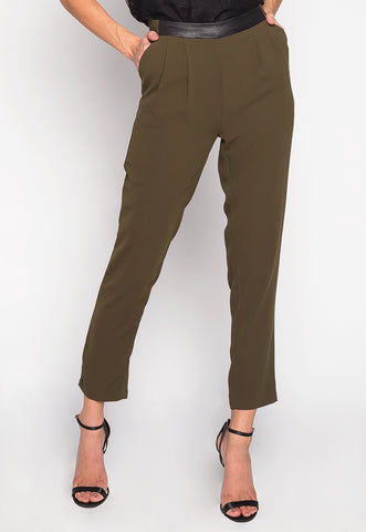 Wake Up In Vegas Side Buckle Straight Pants