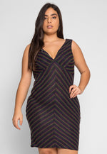 Plus Size Remarkable Metallic Dress