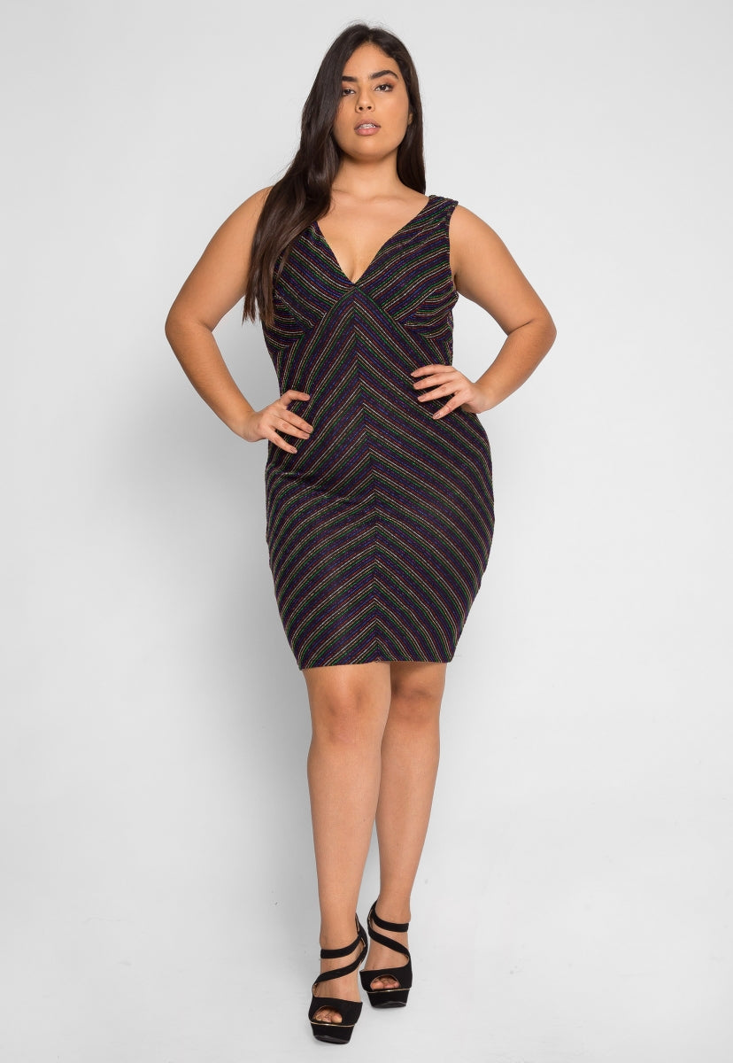 Plus Size Remarkable Metallic Dress - Plus Dresses - Wetseal