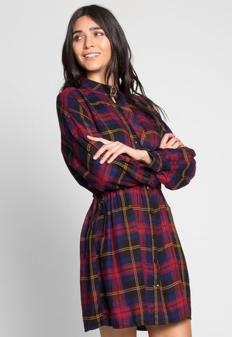 Albany Plaid Shirt Dress