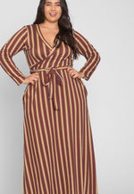 Plus Size Earn Your Stripes Maxi Dress