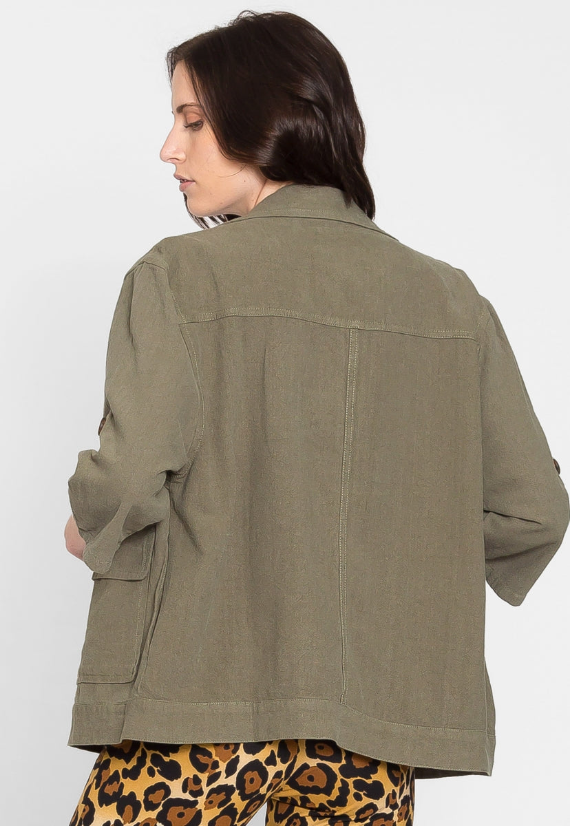 Escape Oversized Utility Jacket - Jackets & Coats - Wetseal