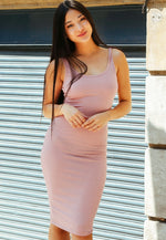 Hugs and Kisses Bodycon Dress in Blush