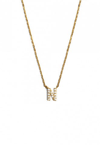 N Initial Charm Necklace