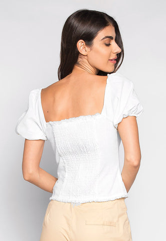 Sunshine Hook & Eye Crop Top