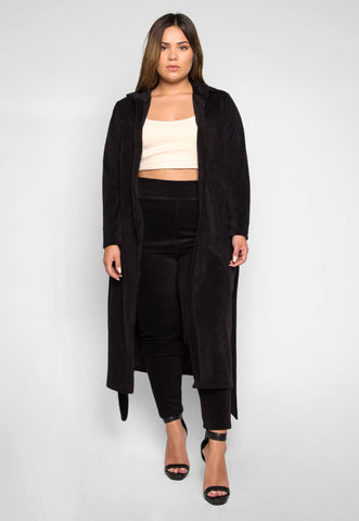 Plus Size Hit the Lights Blazer and Pants Set in Black