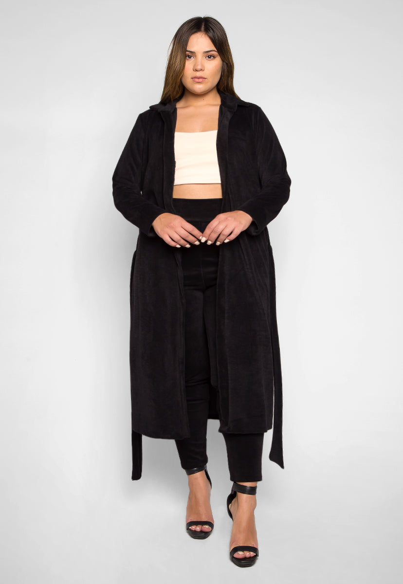 Plus Size Hit the Lights Blazer and Pants Set in Black - Plus Dresses - Wetseal