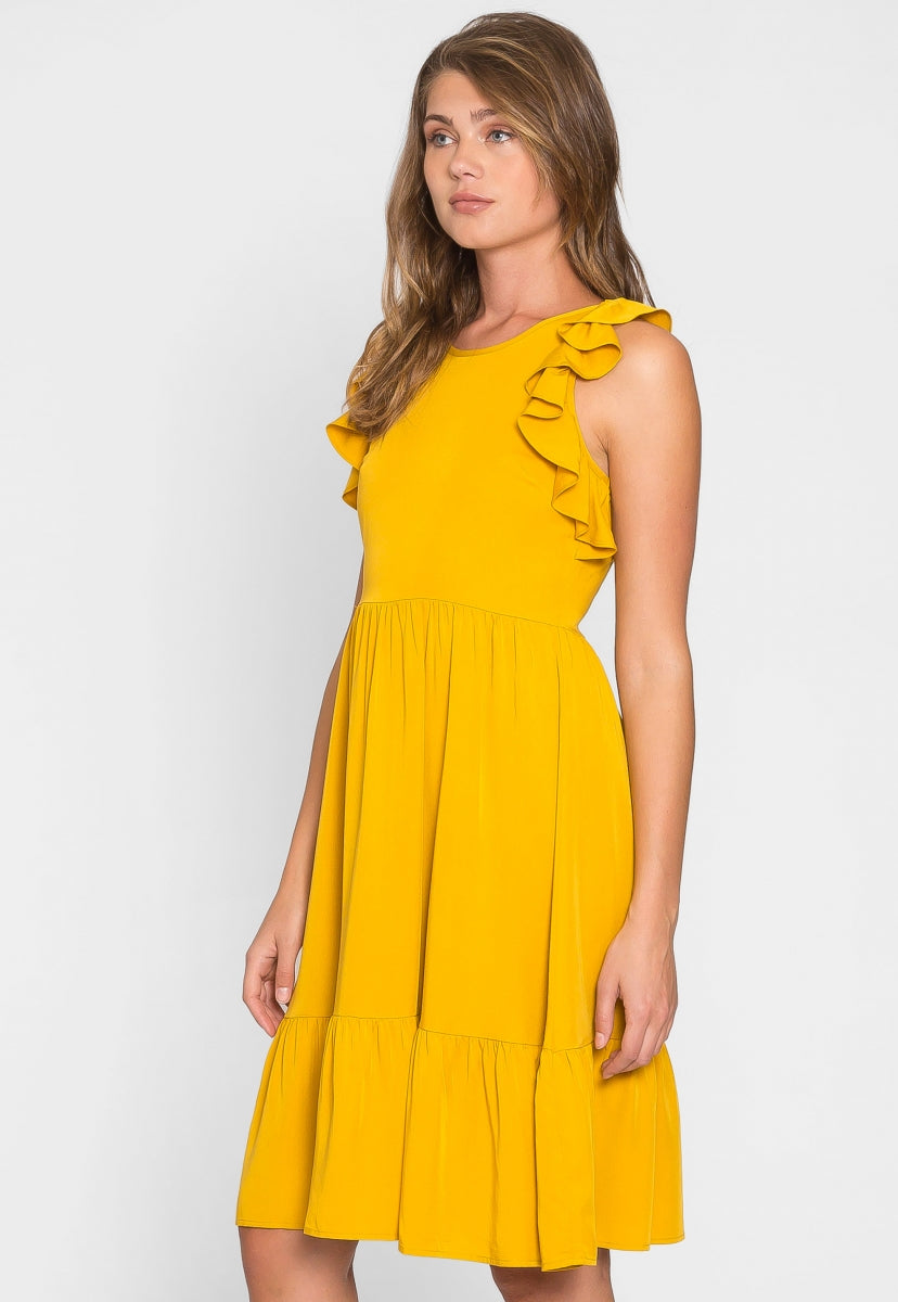Joy Ruffle Peasant Midi Dress - Dresses - Wetseal
