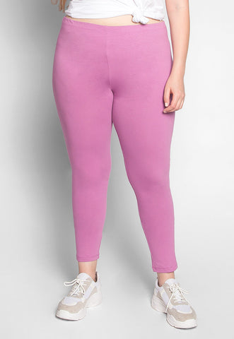 Plus Size Cotton Candy Leggings in Lavender