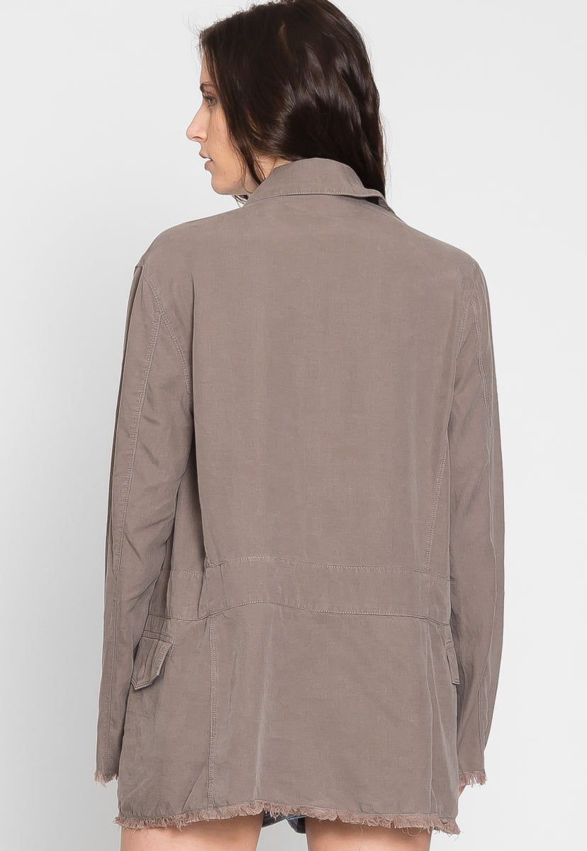 Hot Desert Oversized Linen Jacket - Jackets & Coats - Wetseal