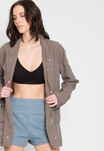 Hot Desert Oversized Linen Jacket