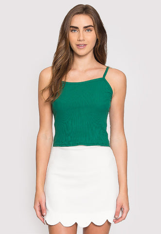 Dreams Crop Tank Top in Green