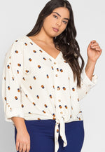 Plus Size Baxter Polka Dot Cardigan in Beige
