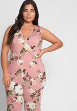 Plus Size Enchanted Floral Jumpsuit in Pink