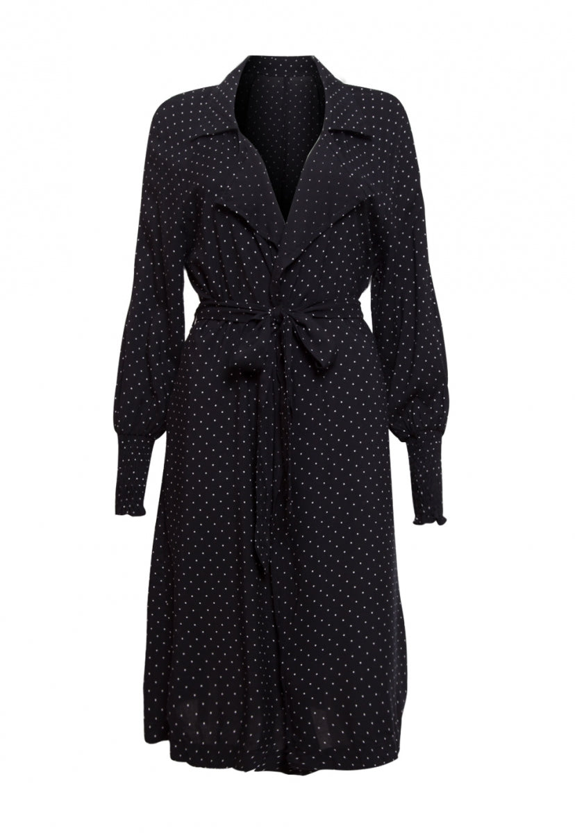 Lightweight Polka Dot Longline Coat - Jackets & Coats - Wetseal