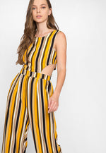 Coney Island Stripe Cut Out Jumpsuit
