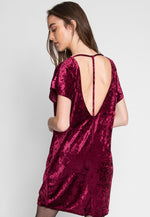 Stand By Me Velvet Dress in Burgundy
