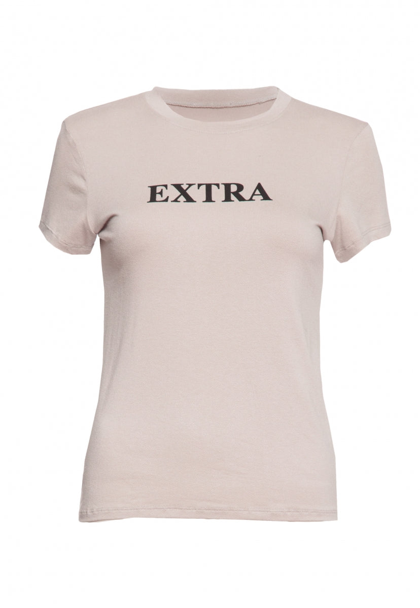 Extremely Extra Graphic Tee in Gray - T-shirts - Wetseal