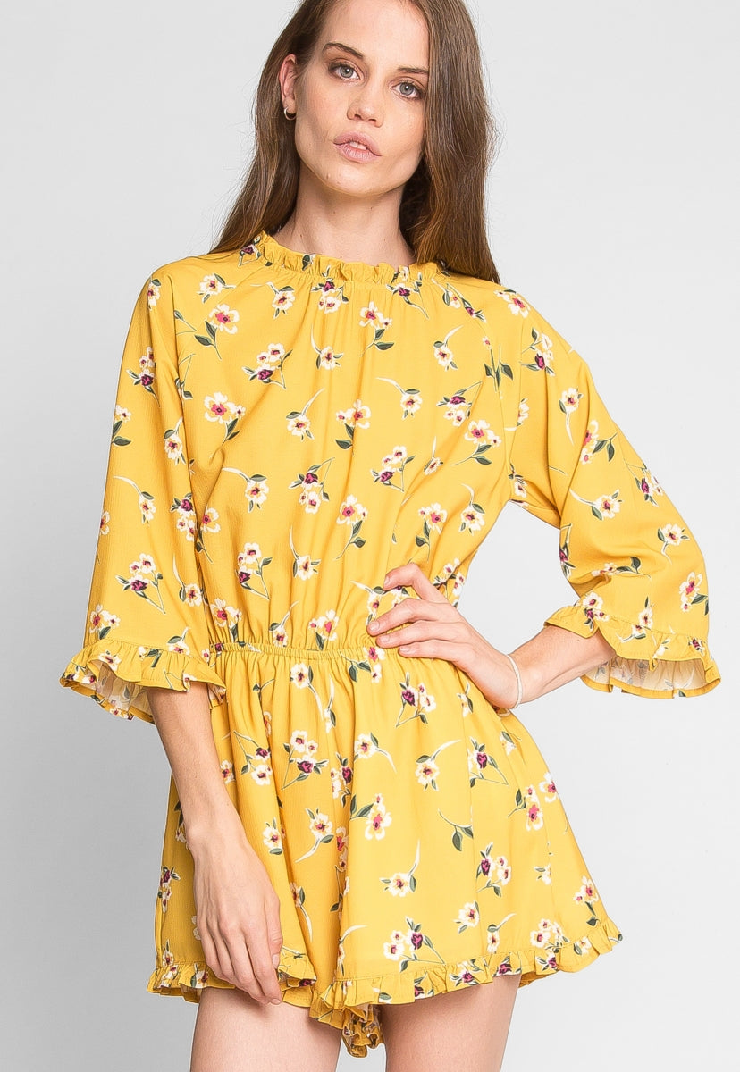 Maple Floral Romper - Rompers & Jumpsuits - Wetseal