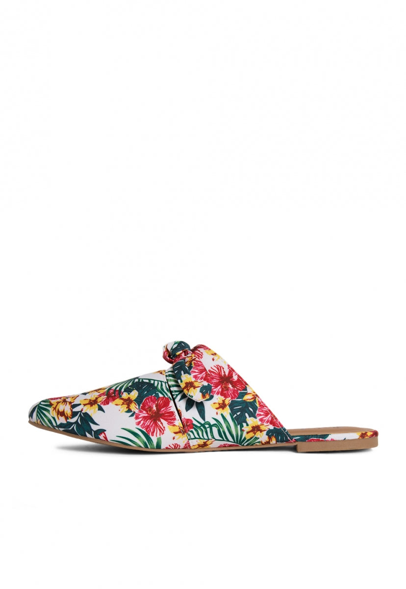 Shore Tropic Print Mule Flats - Shoes - Wetseal