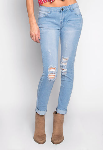 Lola Washed Out Distressed Skinny Jeans
