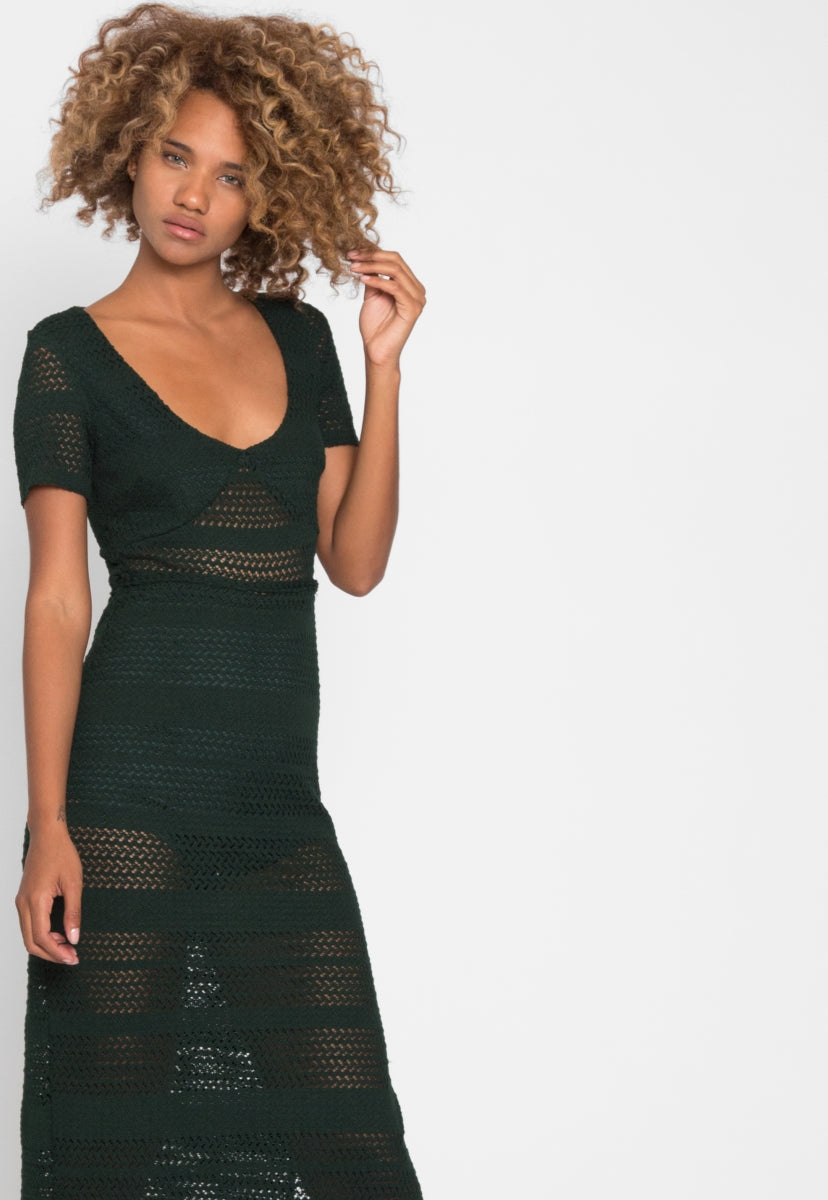 Hawaii Knit Maxi Dress - Dresses - Wetseal