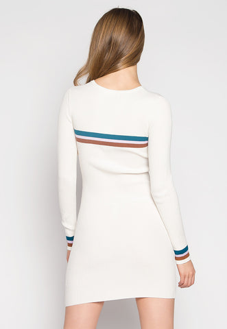 One Last Time Striped Rib Knit Dress