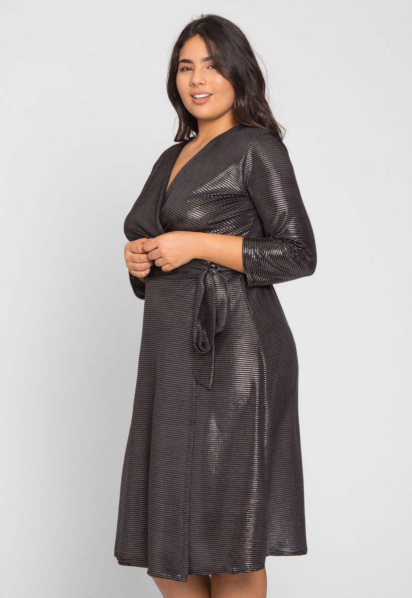 Plus Size Disco Metallic Dress