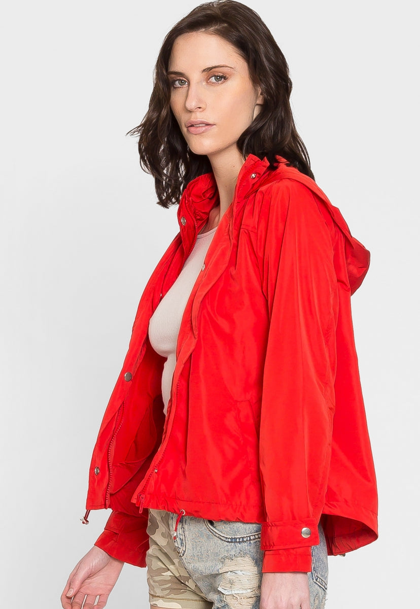 Bell Hooded Windbreaker - Jackets & Coats - Wetseal
