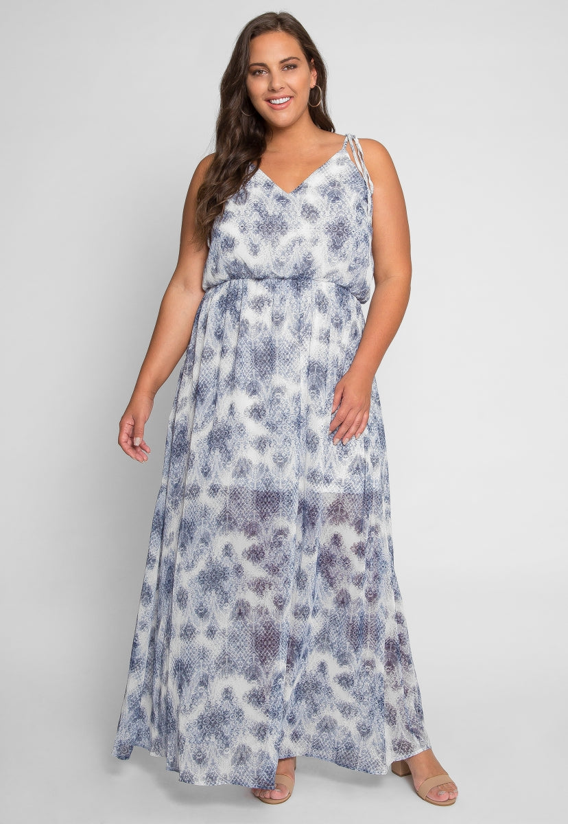 Plus Size Back Again Maxi Dress