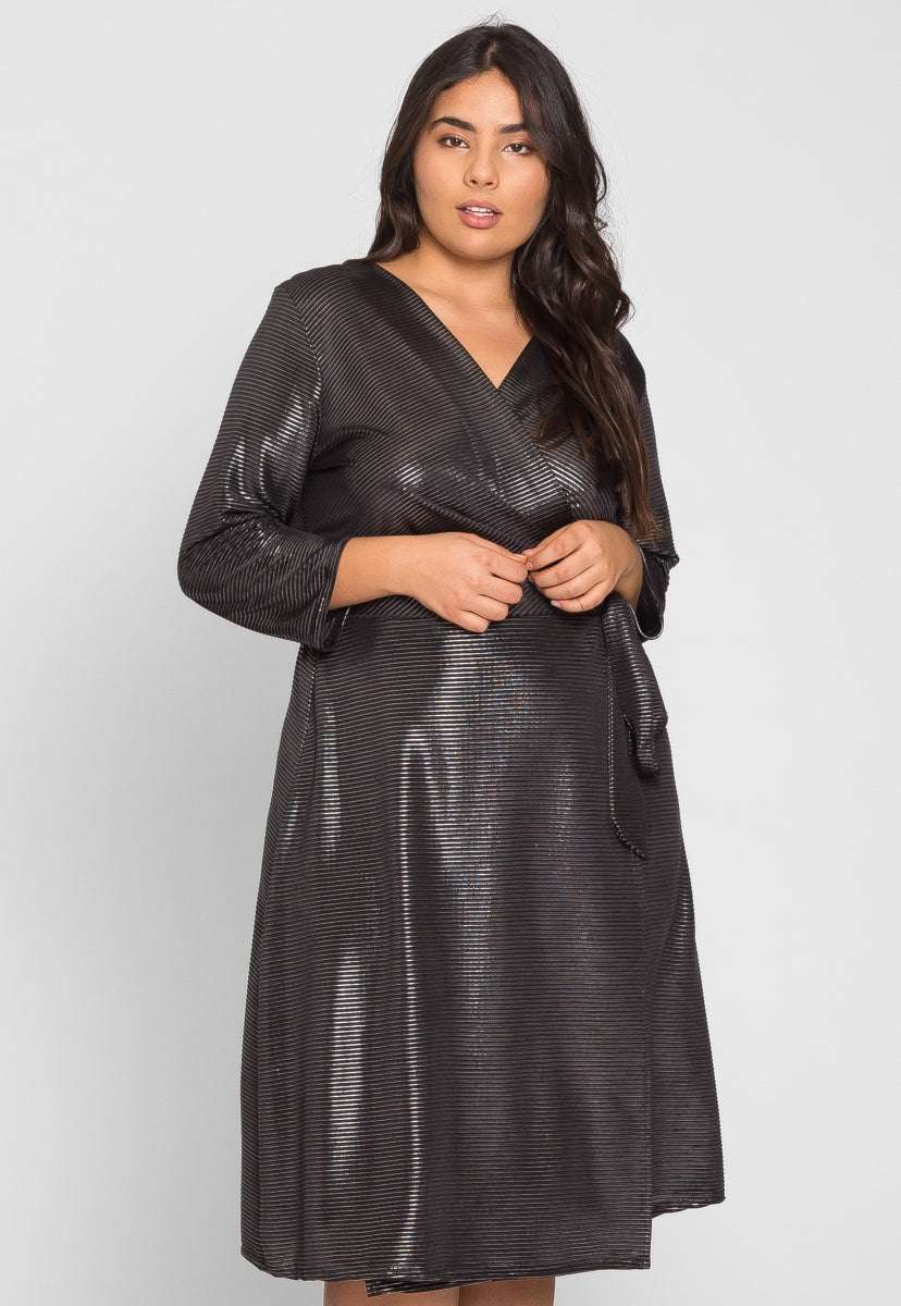 Plus Size Disco Metallic Dress - Plus Dresses - Wetseal