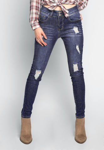 Lost in Time Distressed Ankle Jeans