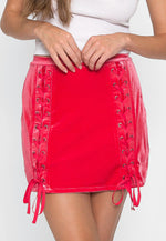 Vast Velour Mini Skirt