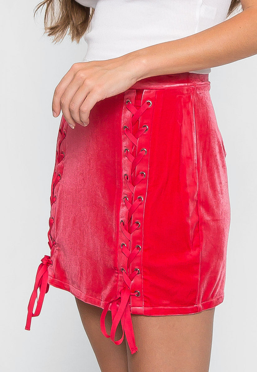 Vast Velour Mini Skirt - Skirts - Wetseal