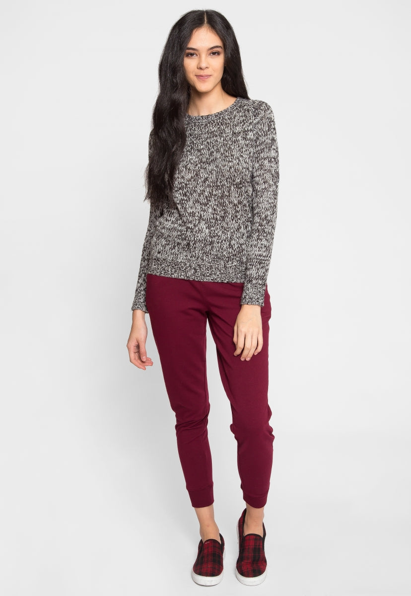 Pine Tree Pullover Sweater in Black - Sweaters & Sweatshirts - Wetseal
