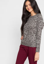 Pine Tree Pullover Sweater in Black