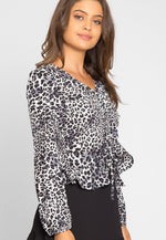 Instinct Leopard Ruched Blouse