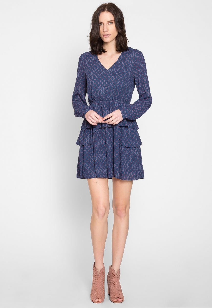 Euclid Printed Flare Dress - Dresses - Wetseal