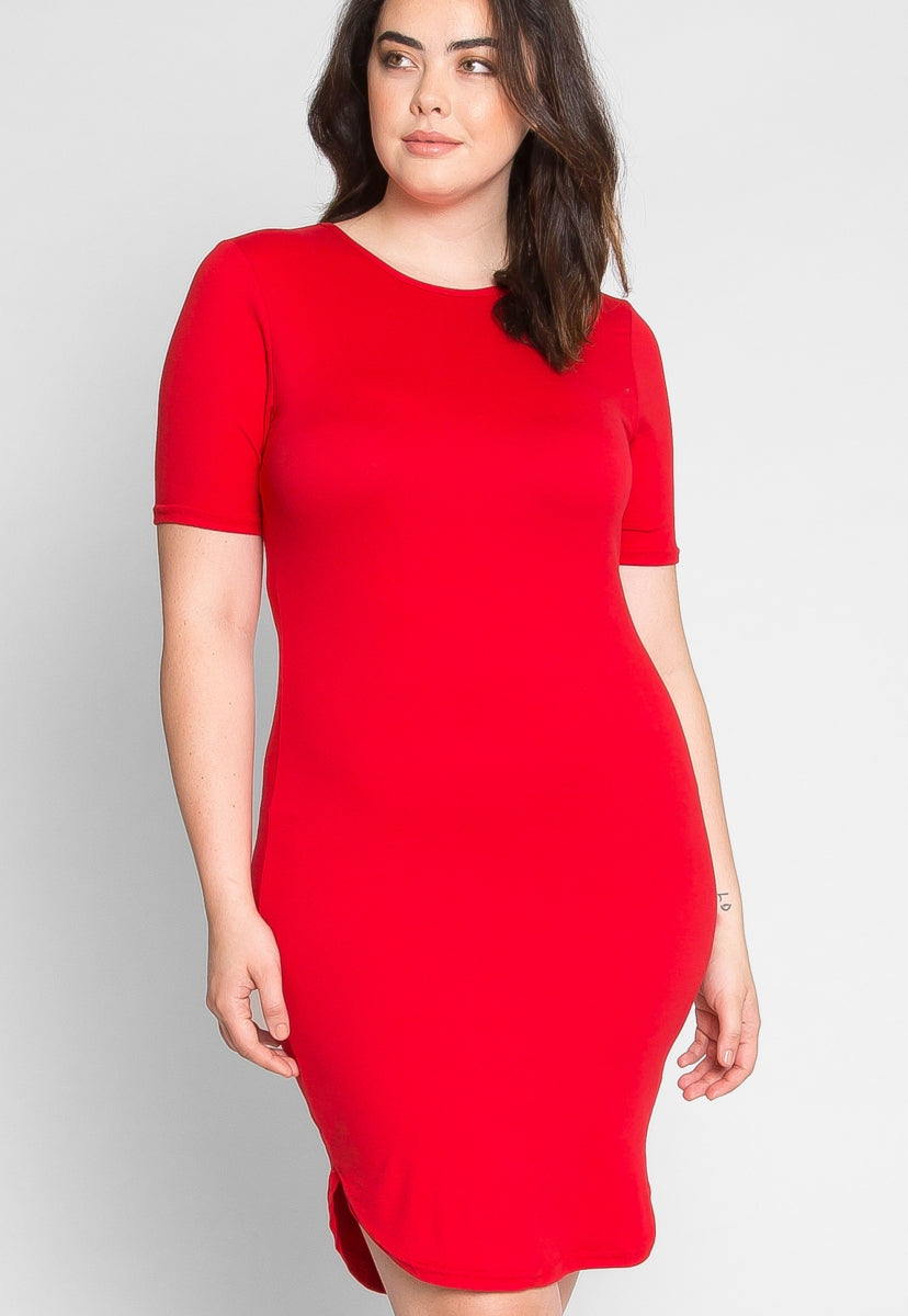 Plus Size Scarlet T-Shirt Dress