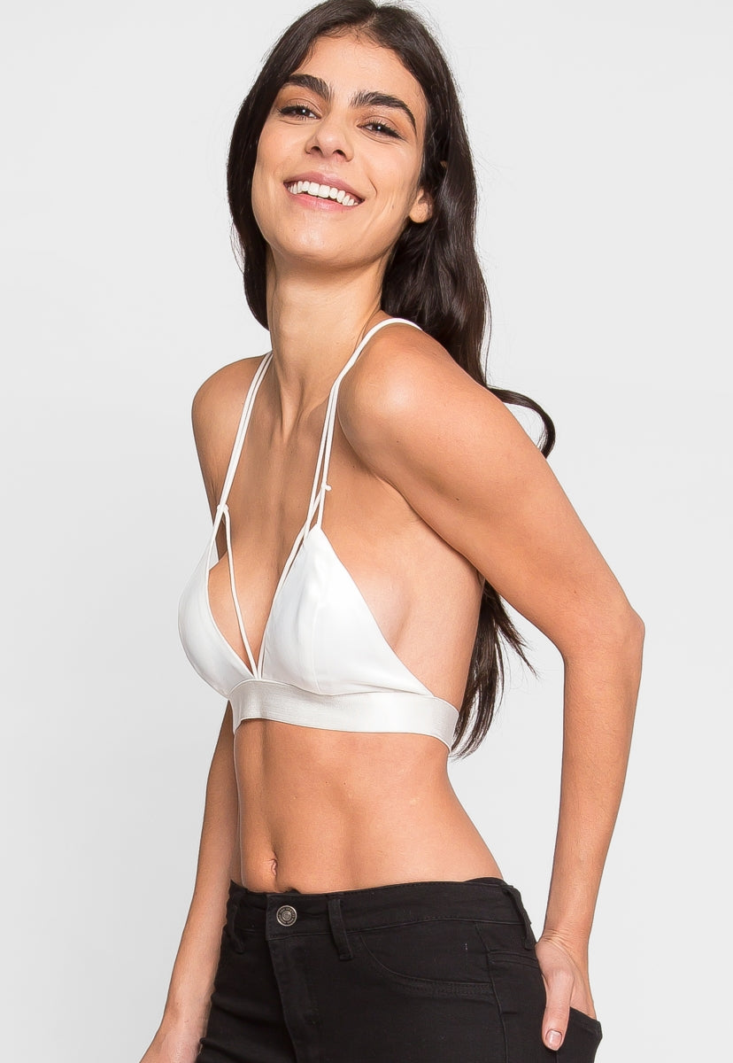 Tampa Satin Bralette in White - Intimates & Lingerie - Wetseal