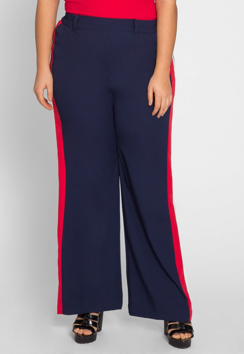 Plus Size Baltimore Pants in Navy - Plus Bottoms - Wetseal