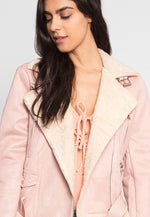 Colorado Sherpa Jacket in Pink