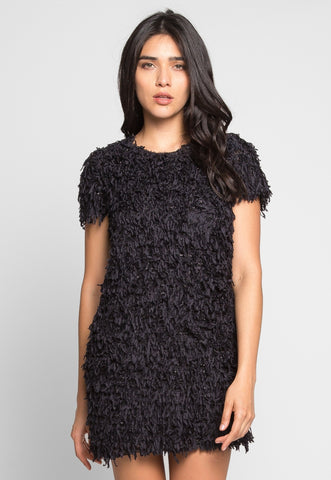 Roaring Fringe Dress in Black