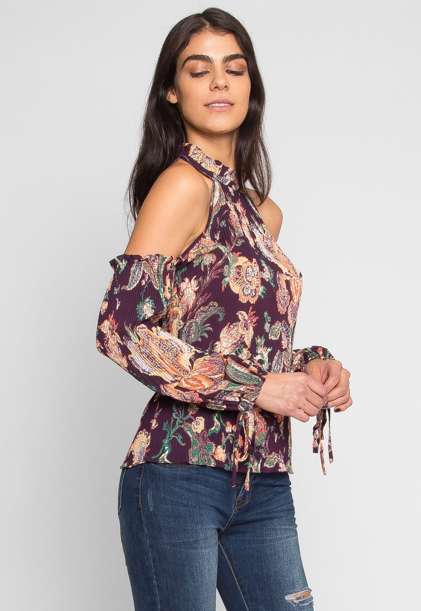 Vintage Retro Floral Smocking Top - Shirts & Blouses - Wetseal